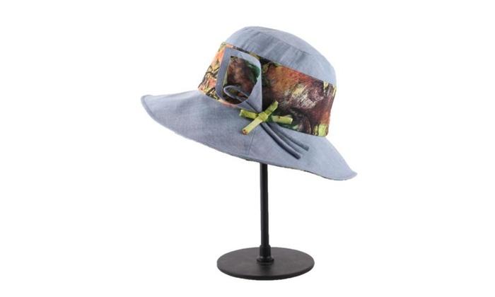 Women's Fashion Elastic Closure Graphic Wide Brim Sun Hat