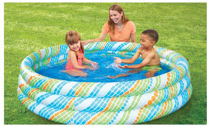 ... ManZR: 3 Ring Inflatable Pool Perfectly Sized For Backyard Swimming