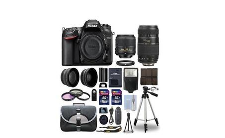 Nikon D7200 Digital SLR Camera + 4 Lens Kit 18-55mm+70-300mm BUNDLE 6e59eeef-1a57-4773-b7b0-615bbb94d5f6