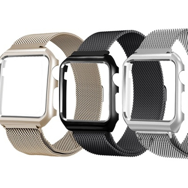 Milanese Loop Mesh Band with Matching Frame for Apple Watch