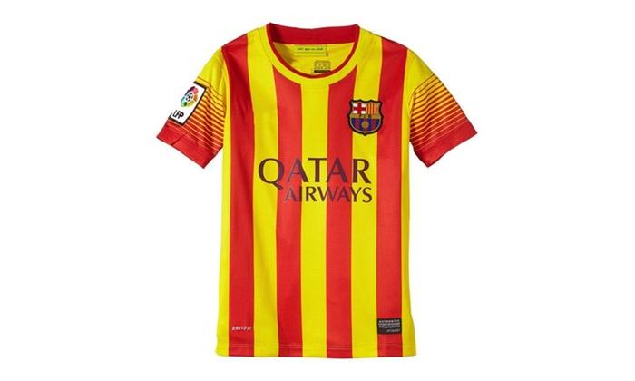 timeless design e35cc 4e422 Barcelona Away Boys Jersey 2013/2014