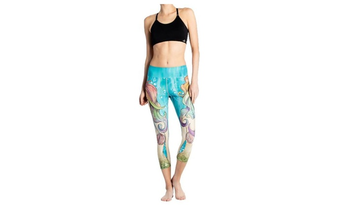 Women's Graphic Capri Casual Fitness Clothing Pants