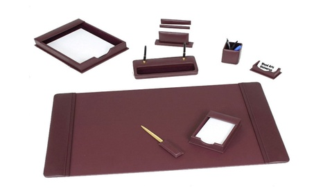 Burgundy Leather 8 Piece Desk Set - WAUCUSTD7204 f788e9ce-4dcf-4eba-9585-9e0c5c226ed9