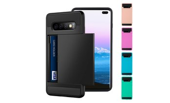 For Samsung Galaxy S10 Plus Shockproof Hard Case Cover&Wallet Credit Card Holder