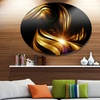 Abstract Gold Fractal Background'Contemporary Abstract Wall Art