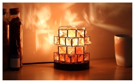 Himalayan Salt Lamp, Hand Carved Natural Amber Crystal Rock cd4e6abe-0a41-4d13-8868-aac331af917b