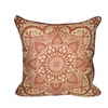 "Loom and Mill Home Decor 22""X22"" Batique Flower Decorative Pillow"