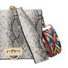Serpentine Leather Crossbody Hand Bag for Women