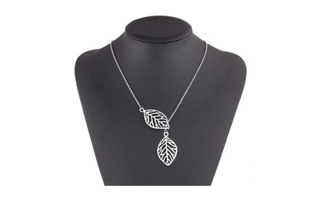 Leaf Feather Pendant Necklace For Women f47933e2-7388-4dad-a634-395dd4d3c5c3