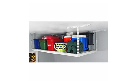 SafeRacks Garage Storage - 4x8 Overhead Rack - White - Refurbished f11c68c4-f353-4de1-ba22-01c2661e530a