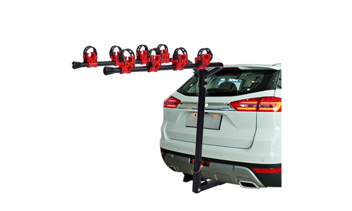 4 Bicycle Bike Rack Hitch Mount Car Truck AUTO SUV Carrier Red\u0026Black Black \u0026 Red Up To 50% Off on Mou| Groupon Goods