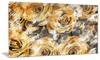 Yellow Rose Garden Floral Metal Wall Art 28x12