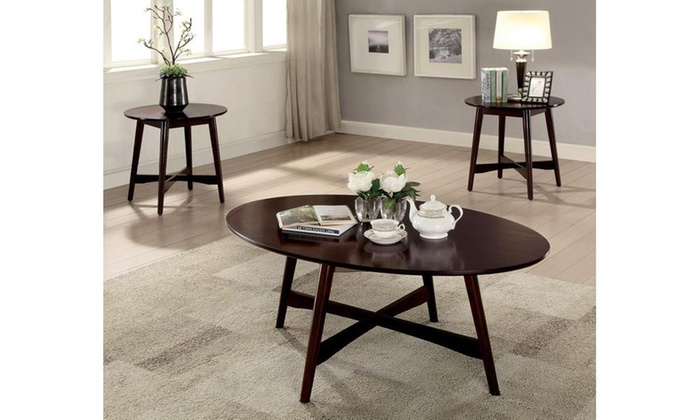Furniture Of America Levin Mid Century Modern 3 Piece Table Set Groupon