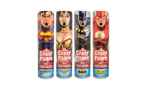 Crazy Foam - DC Justice League 4 Pack, Superman, Batman, Wonder Woman, Flash