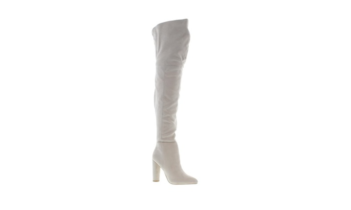 undefeated x noveldesign free shipping Moca Woman Faux Suede Over knee Open cuff Dressy High heel boots