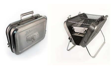 Volkswagen Stainless Steel Portable VW Suitcase Barbecue Grill