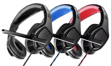 Wired Stereo Bass Surround Gaming Headset for PS4 Xbox One PC with Mic