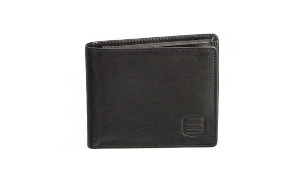 Cowhide Leather Bifold Mens wallet Flap Up ID Window Slim  Brown