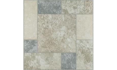 Tivoli Marble Blocks 12x12 Vinyl Tile - 45 Tiles/45 sq Ft. b4640764-93dd-4950-bd6c-78c0ef4e4221