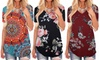 Womens V Neck Floral Summer Casual Short Sleeve T Shirts Pullover Tunic Tops