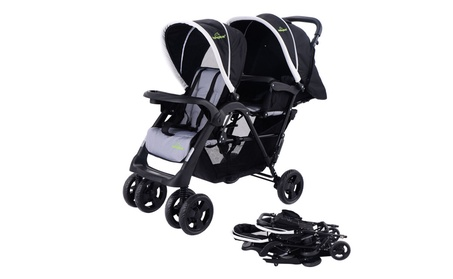 Foldable Twin Baby Double Stroller Kids Jogger Travel Infant Pushchair 2a6f4cbc-a5c0-4ab2-a058-c14a216ee302