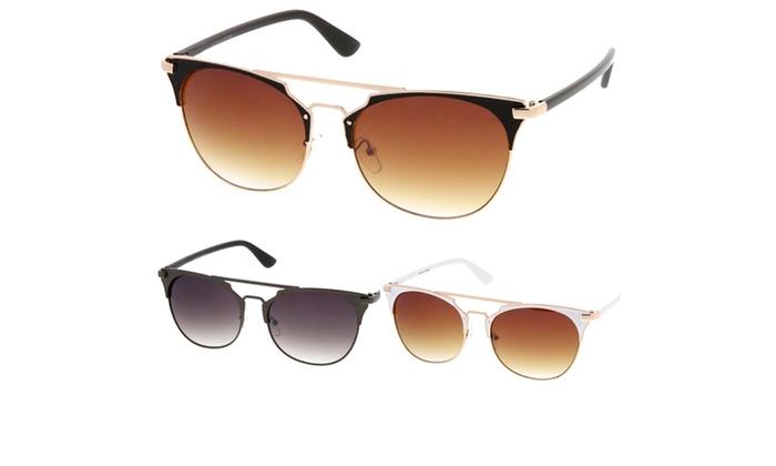 Retro Fashion Flat Top Double Wire Women Sunglasses Model S60W3181