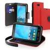 Insten Red Stand Flip Leather Wallet Case Cover For LG Optimus L90