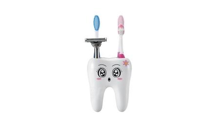 4 Holes Tooth Shaped Toothbrush Holder Bathroom Accessory 948b77a9-cf9e-41d8-b92f-30e70e492b2b