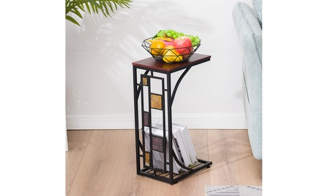 Iron Side Table Coffee Table Tray End Table for Living Room