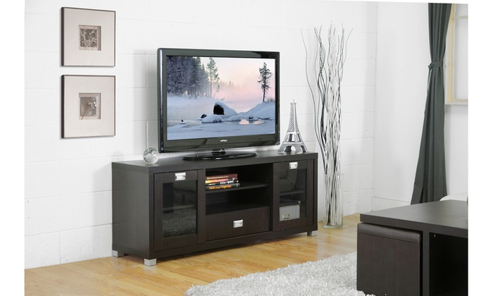 Up To 58 Off On Matlock Contemporary Tv Stand Groupon Goods