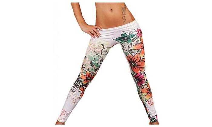 JTC Women's Leggings Pants Colored 13 Patterns - #12 / One Size