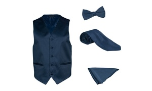 Alberto Cardinali Men's solid dress vest 4 pieces