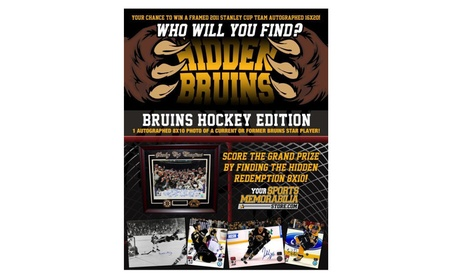 Boston Bruins Hidden Bruins Signed 8x10 b0ffaed3-47bb-4368-9958-309de4f435b3