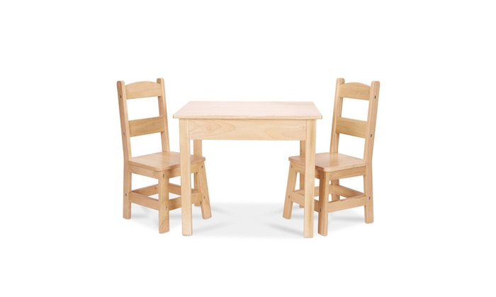 Melissa And Doug 2427 Wooden Table & Chairs Set | Groupon