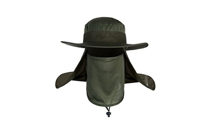Protection Sun Cap Removable Mesh Neck Face Flap Fishing Hat