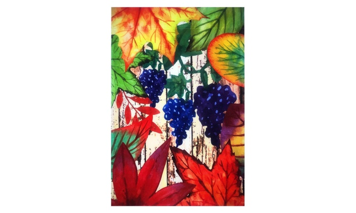"""New Grapes and Leaves Garden Flag 12/""""X18/""""  Fall Leaves Decorative Flag"""