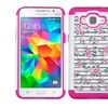 For Samsung Galaxy Grand Prime Pink White Fresh Roses Hard Silicone Hybrid Case