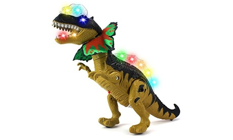 Dino Valley Dilophosaurus Battery Operated Walking Toy Dinosaur Figure ba2e31e4-1c33-40bd-b531-bfb007acefa0