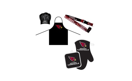NFL Combo BBQ Set - Chef Hat, Apron, Oven Mitt Pot Holder and Lanyard photo