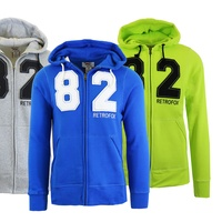 Groupon.com deals on Mens Fleece Zip-Up Hoodie with Thermal-Lined Hood