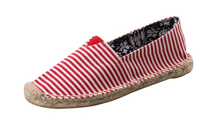 Women's Original Style Slip-On Casual Canvas Boat Shoe Loafer Flats