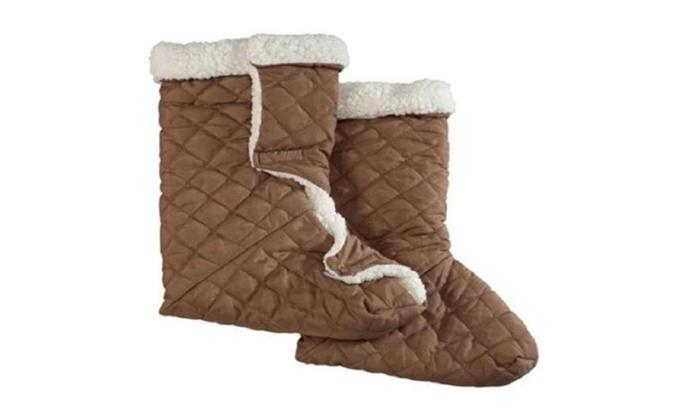 Comfort Piggy Snuggler Slipper Heatin Foot Warmer Machine Washable