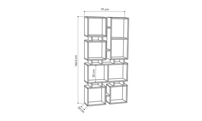Bancroft Bookcase 31 X 66 9 Shelving Unit