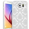 Insten White Lace Hard Rubberized Case Cover For Samsung Galaxy S6