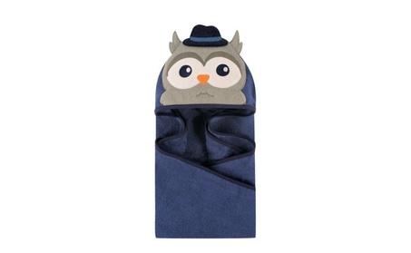 Baby Animal Mr Owl Face Hooded Shower Bath Towel Cotton Super Soft