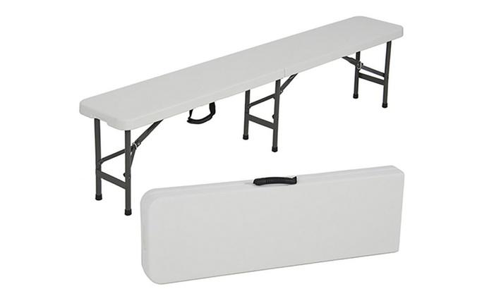 Fantastic Folding Bench Portable Plastic Indoor Outdoor Picnic Party Dailytribune Chair Design For Home Dailytribuneorg