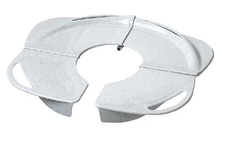 Folding Potty with Handles, White granite 99f1ac52-fa3e-40fe-9b2b-5287ffb6df87