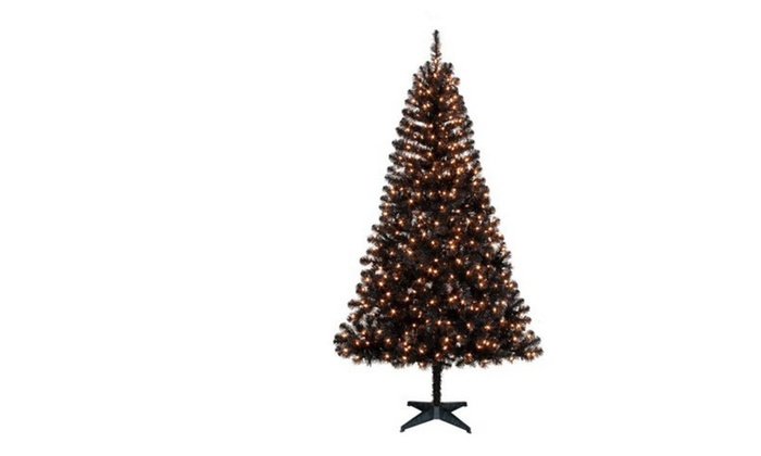 pre lit 65 madison pine black artificial christmas tree - Black Artificial Christmas Tree