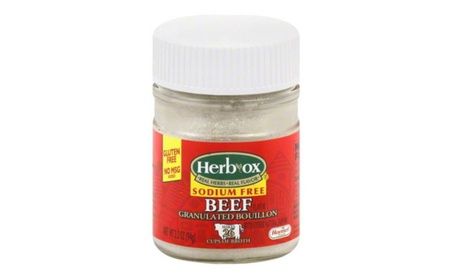 Herbox Granular Sodium Free Beef Bouillon, Pack Of 12 - 3.3 oz. 1045f2ce-e6fc-4bf8-a571-7702791b1f39
