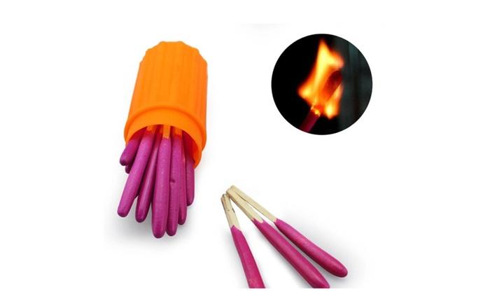 20pcs Emergency Tool Survival Kit Waterproof Portable Head Matches